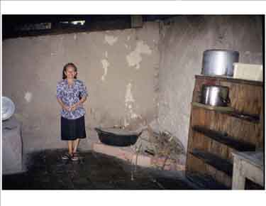 Clementina Martinez in her soup kitchen