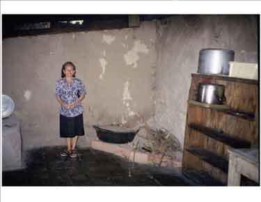 Clementina Martinez in her soup kitchen