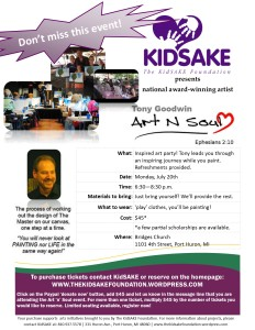 KidSAKE Event Inspired Art Party Tony Goodwin Art n Soul